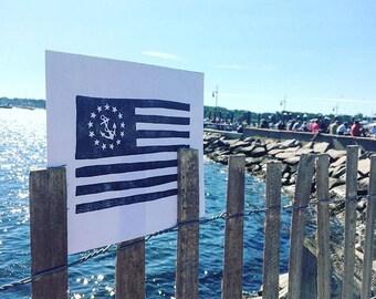 Yacht Ensign Flag 8x10 Letterpress Print