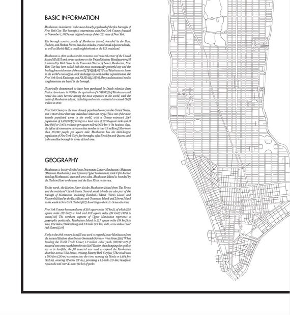 photo relating to Na Basic Text Printable named Contemporary York Map Print, Printable Clean York Map Poster, Electronic Artwork, Manhattan Map Print, Black and White Map, Print Down load