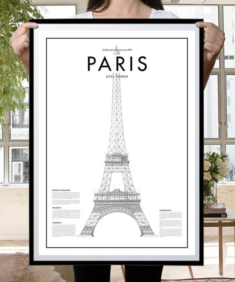 Paris Poster Black /& White Minimal Print Poster Minimal Graphics Art Home Art Minimal Paris Eifel Tower Poster