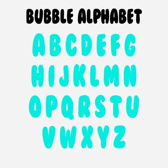 Bubble Alphabet Etsy
