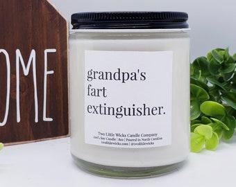 Gift for Grandpa Grandpas Fart Extinguisher Candle Funny Gift for Grandpa Birthday Gift for Grandpa Christmas Gift for Grandpa Funny Candles