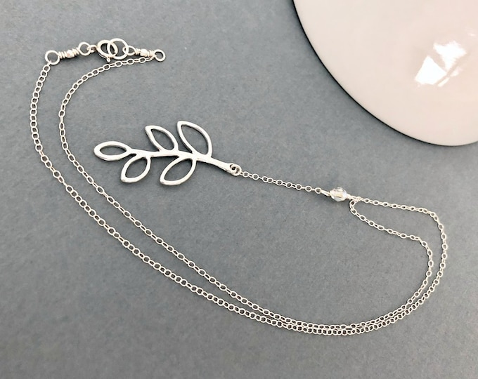 Sterling Silver Leaf Necklaces for Women