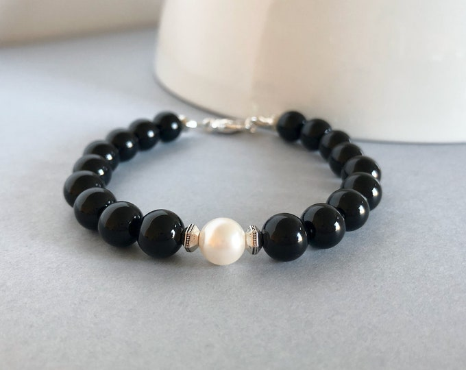 Black Onyx Gemstone Bracelet for Women