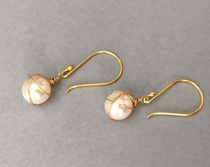 Small Earrings Pearl