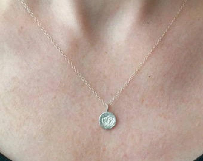 Everyday Silver Lotus Necklace