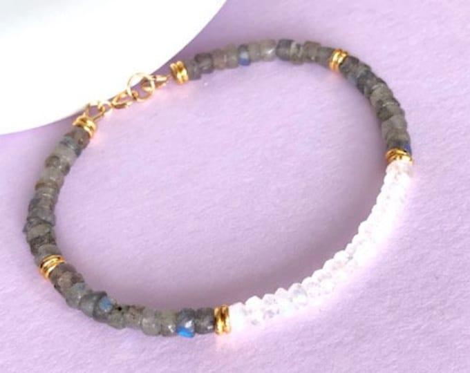 Labradorite Moonstone Jewelry Bracelet