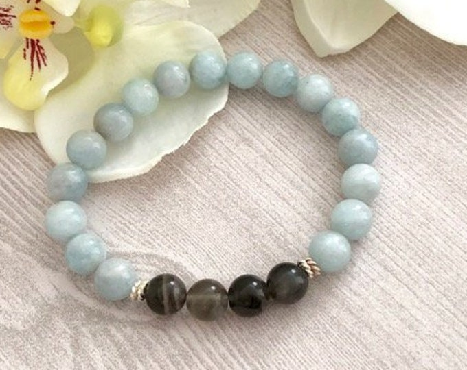 Aquamarine Gemstone Jewelry Bracelet Gift