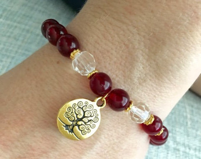 Gold Tree of Life Spiritual Bracelet