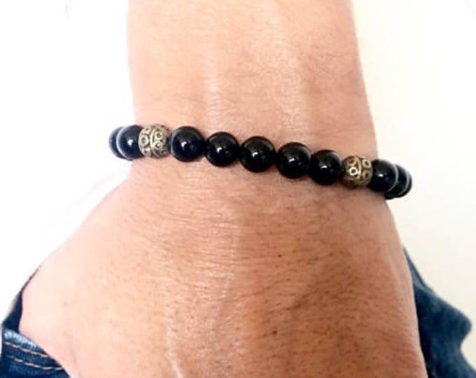 Black Onyx Bracelet for Men