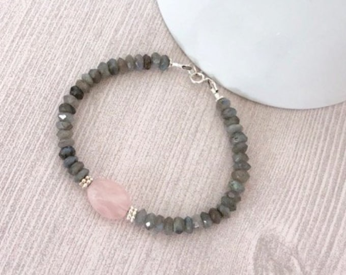 Labradorite Beaded Gemstone Bracelet