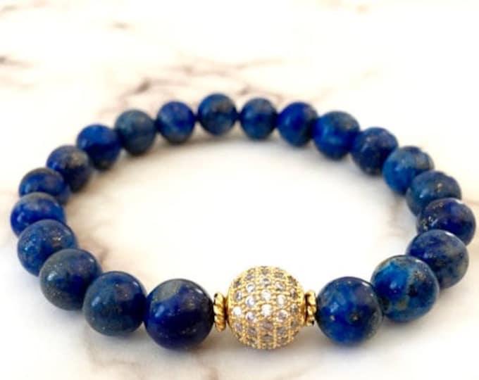 Lapis Lazuli Gold Minimalist Bracelet