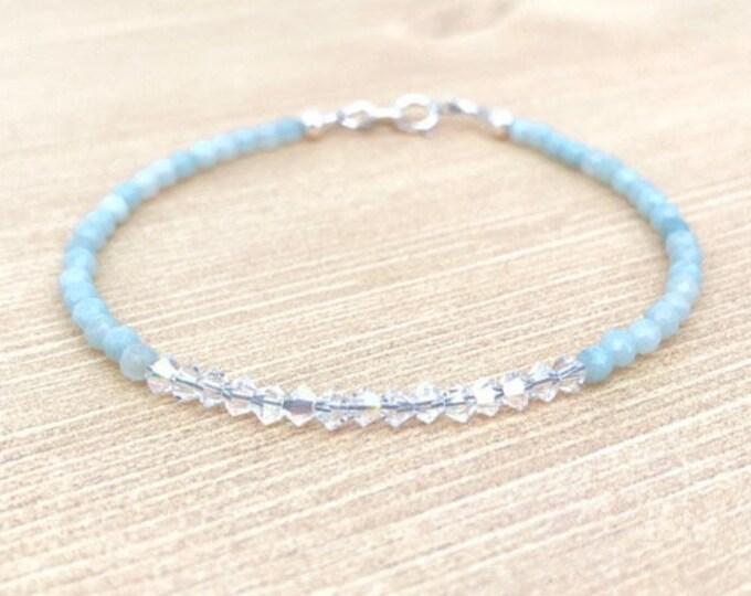 Tiny Beaded Gemstone Bracelet Women's Gift