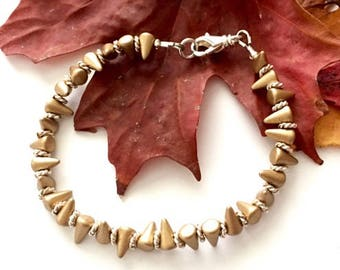 Gold and Silver Spike Bracelet