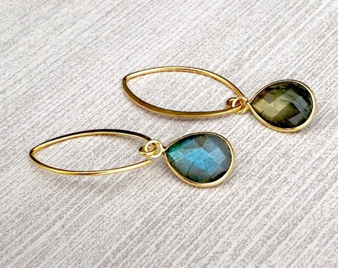 Labradorite Earrings Gift for Women