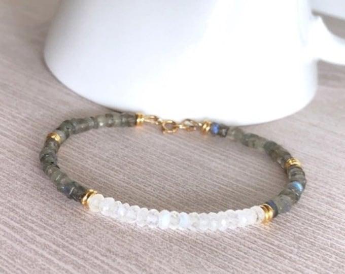 Labradorite Moonstone Bracelet