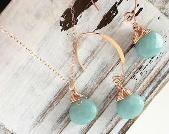 Amazonite Jewelry Set