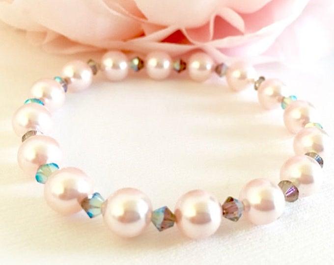 Pink Swarovski Pearl Bracelet