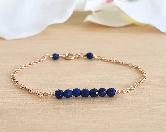 Gemstone Beaded Bar Bracelet Gift