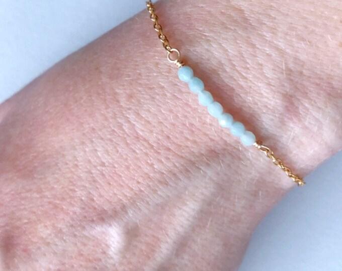 Simple Amazonite Gemstone Jewelry Bracelet