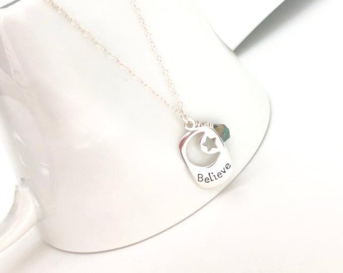 Silver Believe Necklace