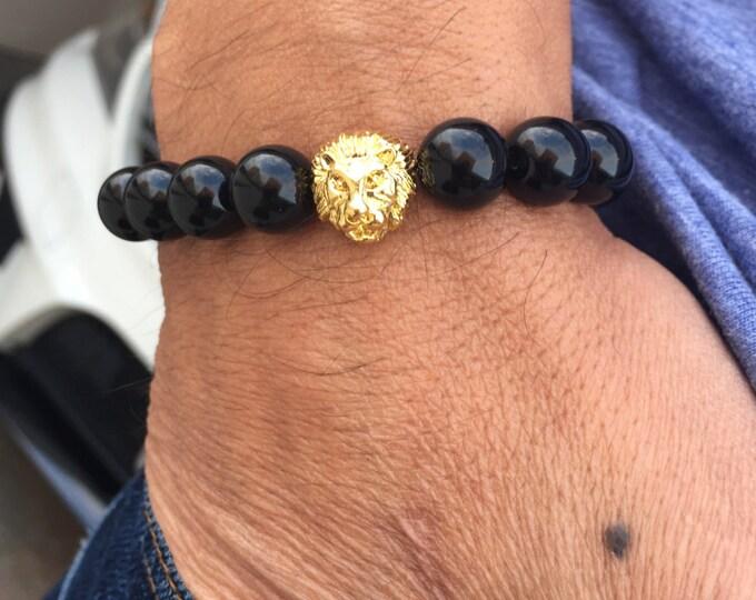 Lion Bracelet Black Onyx