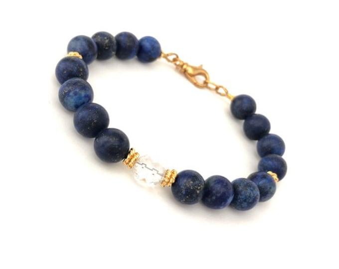 Lapis Lazuli Gold Bracelet for Women