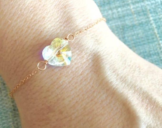 Dainty Crystal Heart Jewelry for Women