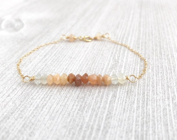 Gemstone Beaded Bar Bracelet