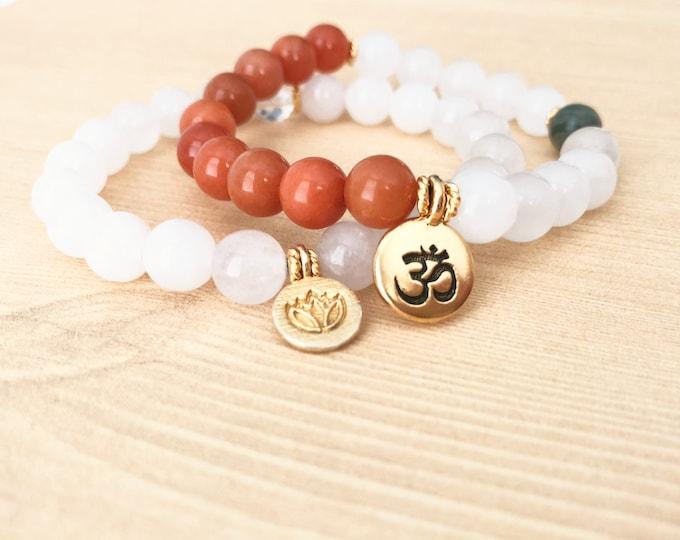 Gemstone Yoga Bracelets for Women