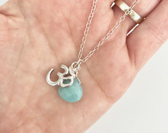 Silver Om Charm Necklace