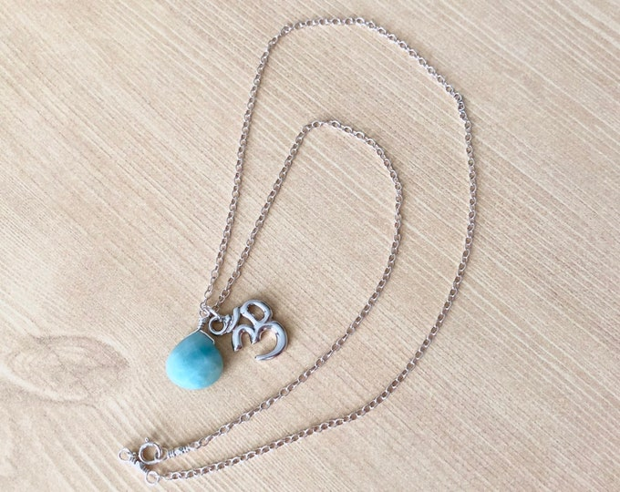 Om Necklace Silver