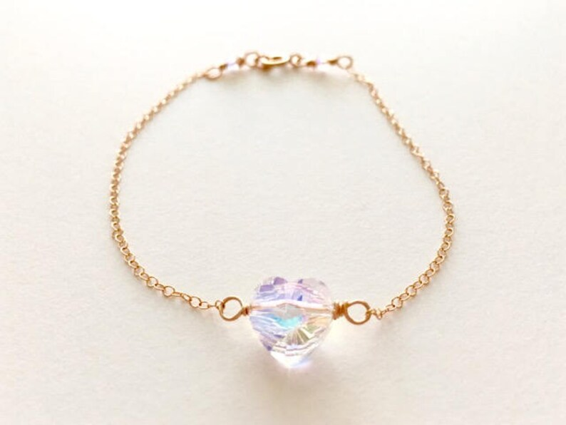 Simple Charm Bracelets Dainty Heart Bracelet Sister Gift Best Friend  Bracelet Gold Chain Bracelet Gift Dainty Heart Jewelry