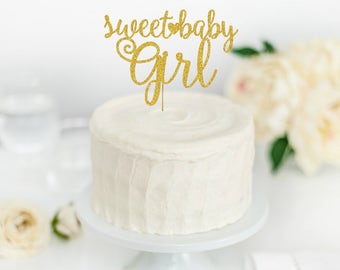Sweet Baby Girl Cake Topper - Mom to Be - Baby Shower Cake Topper - Baby Shower Decorations - Baby Shower Decor - Baby Girl Shower Decor