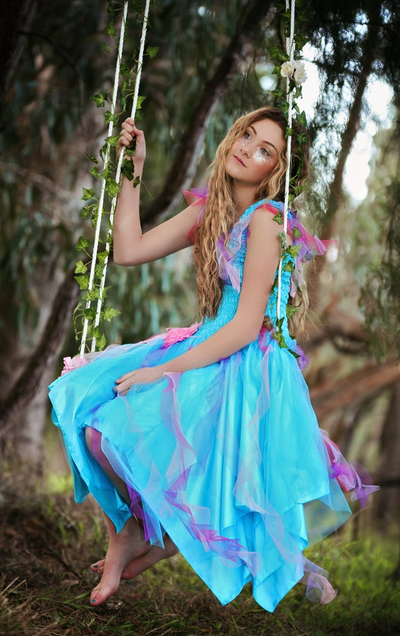 Deluxe Adult Womans Plus Size Turquoise Fairy Dress Etsy