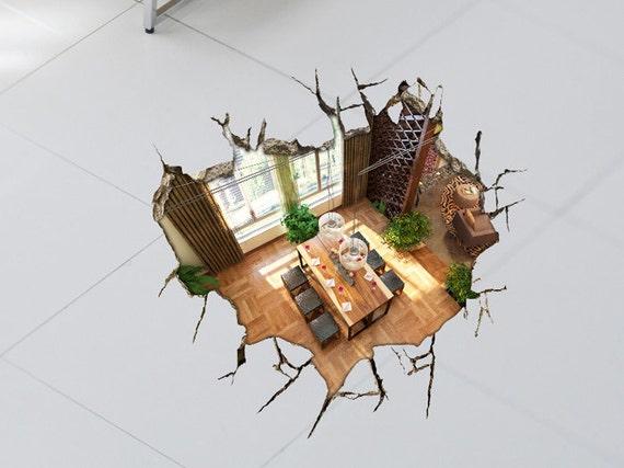 Ähnliche Artikel wie Realistische 3D Boden Aufkleber ...