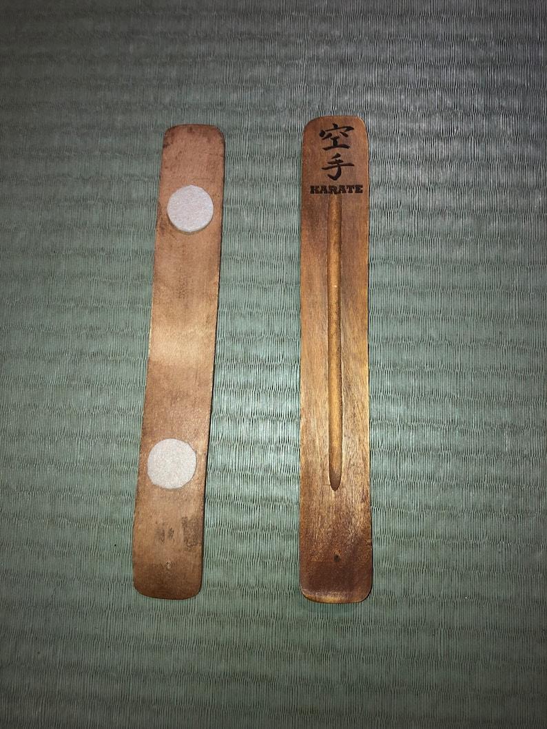 2 Karate engraved Incense Holder Ash Catcher Burner