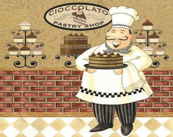 Lo chef pasticceria stampa, Oggettistica per la cucina, parete Art regalo  per uno Chef per qualsiasi cuoco, regalo, perfetta per la parete della ...