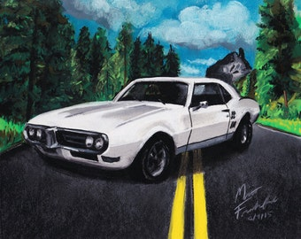 Custom Car Illustration (Drawn of Your Car from Photo)