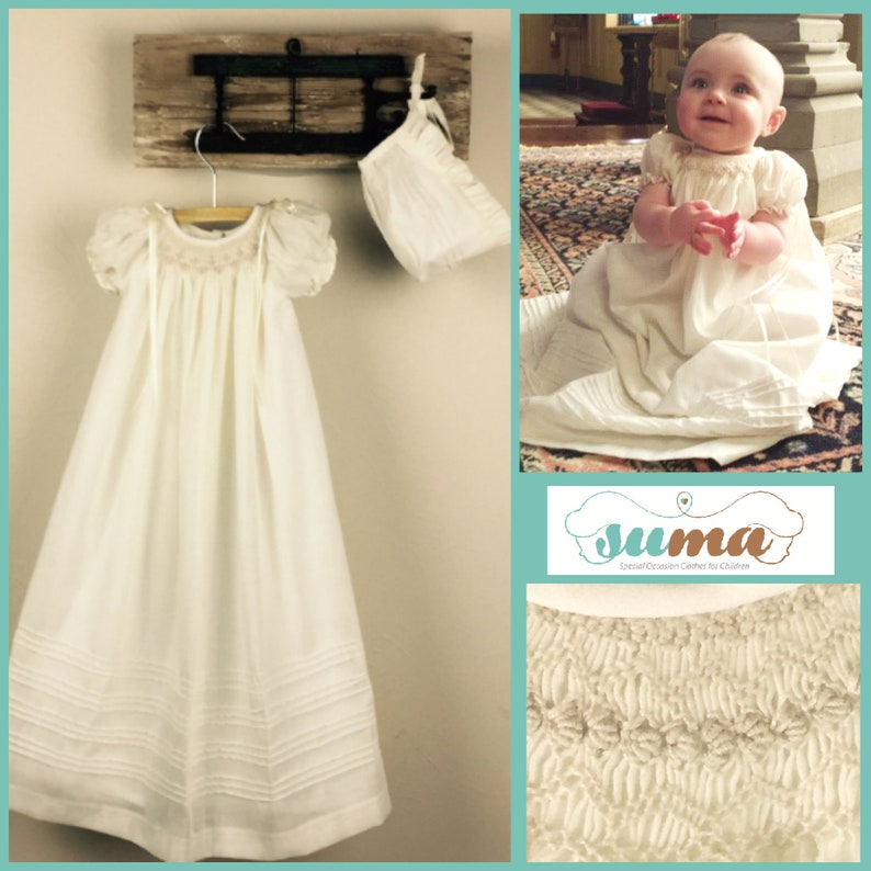 b8ec4d70a Christening Gown Cotton Baptism Gown Girls Baptism Dress
