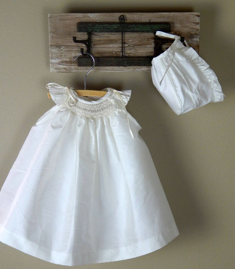 Christening Clothing, Shoes & Accessories New Baby Girls Ivory Christening Baptism Dedication Dress Gown W/ Bonnet