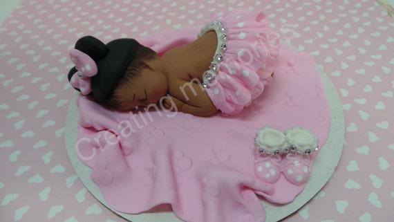 Baby Shower cake topper decoration Comestible Bébé sur couverture Fille Garçon Baptême