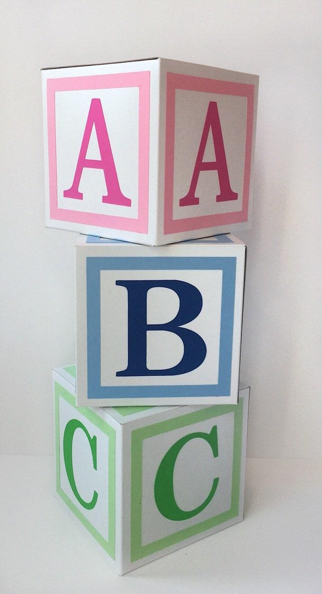 Alphabet Blocks - Baby Decor - Baby Blocks - Baby Shower