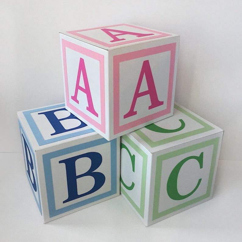 Alphabet Blocks Baby Decor Baby Blocks Baby Shower Etsy