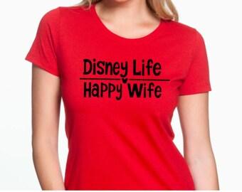 Disney Life Happy Wife Customized Shirt