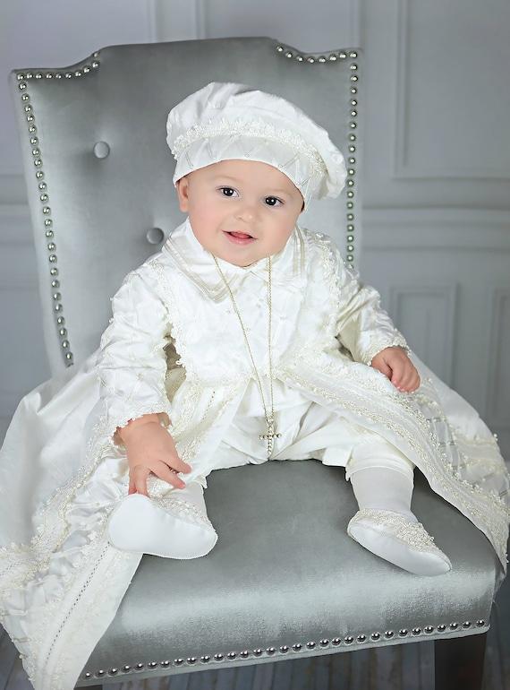 klassisch erstklassige Qualität komplettes Angebot an Artikeln Baby junge Taufe Kleid, spanischen Stil Outfit (Ropones Para Bautizo).  Taufe Outfit B001