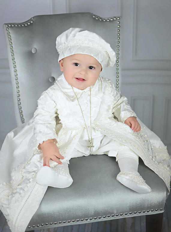 Baby Boy Christening Gown Spanish Style outfit ropones para | Etsy