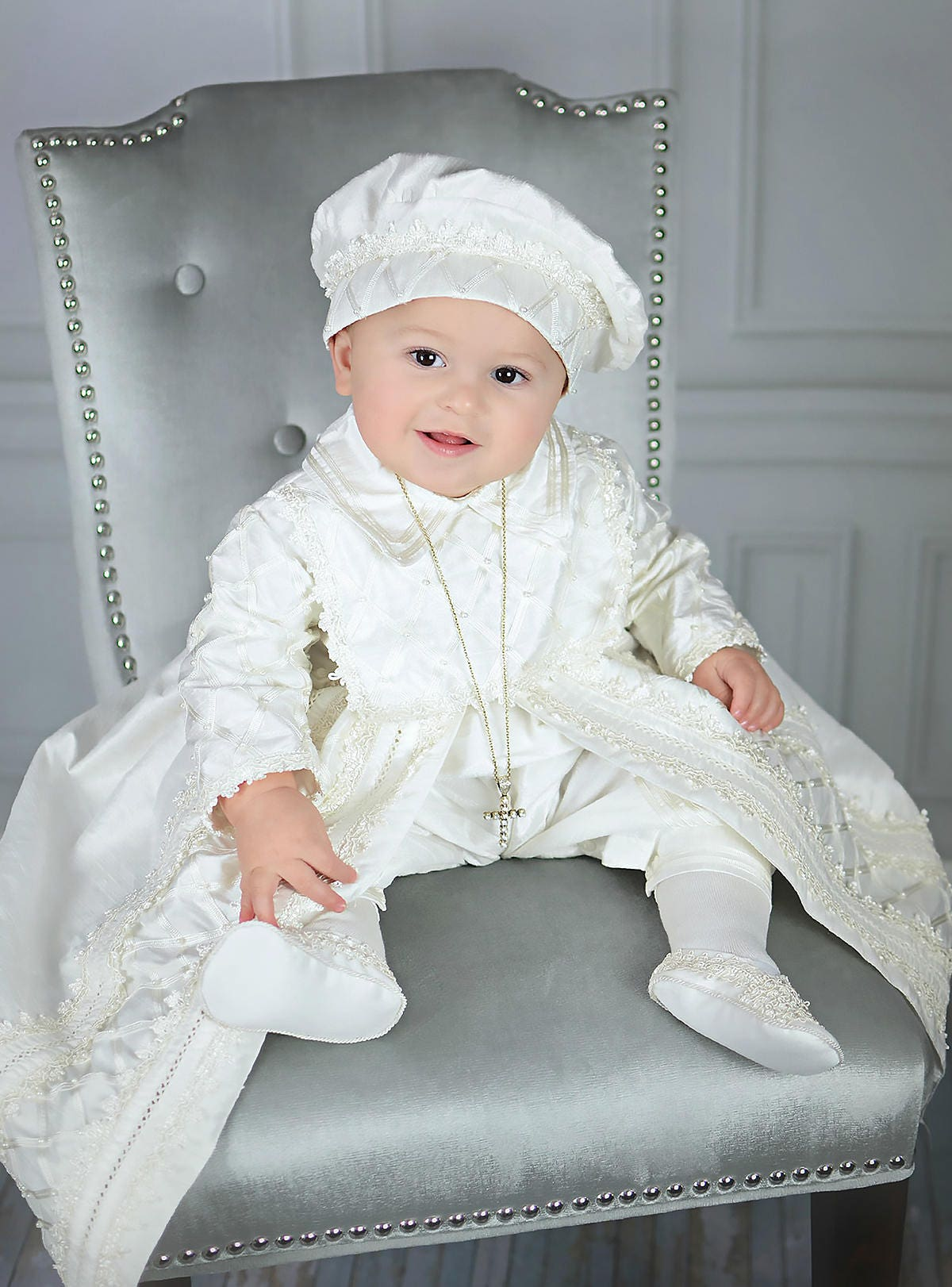 baby boy christening gown spanish style outfit ropones