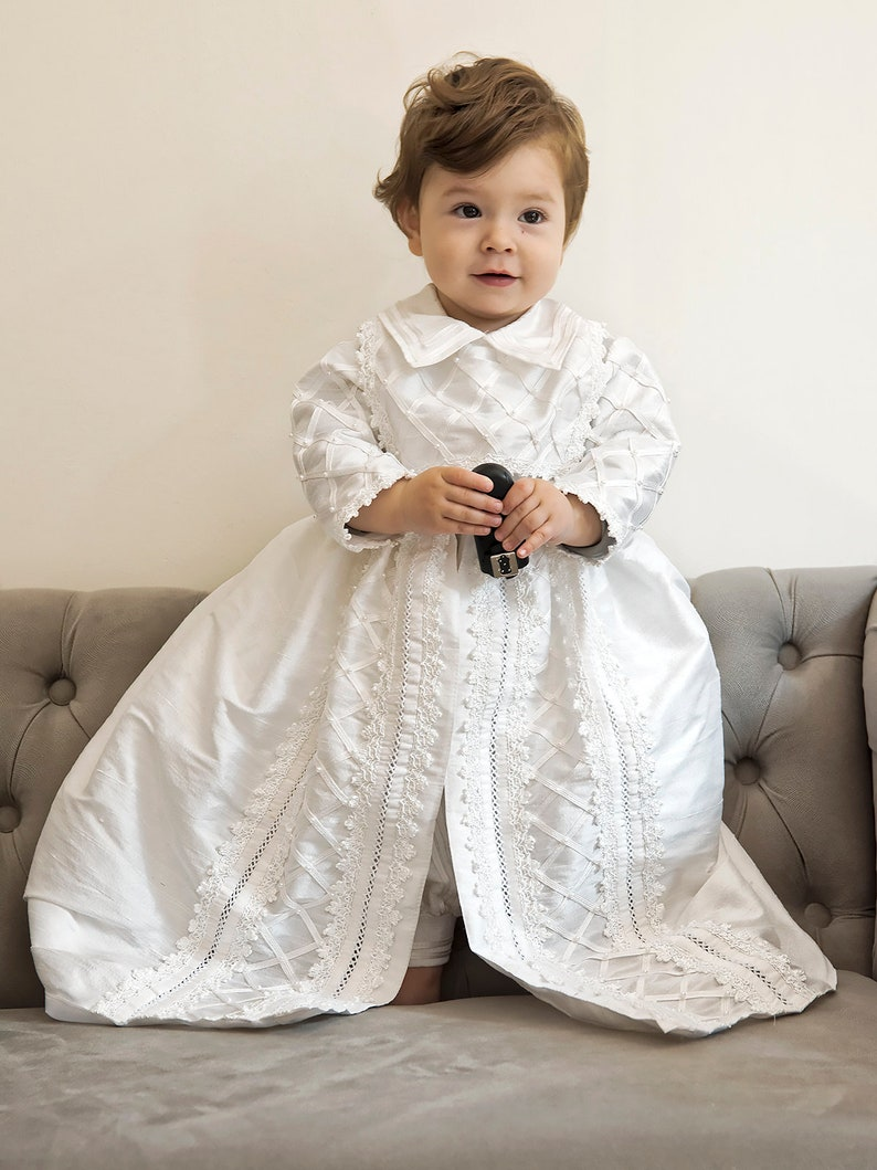 eaeabccfcebe71 ... Baby Boy Christening Gown Spanish Style outfit ropones para White ...