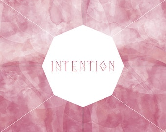 Intention {Download } || Print // Decor // Motivation // Inspiration // Affirmation // Mantra // Bohemian // Boho