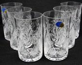 Set of 6 Russian Cut Crystal Glasses tumblers suitable for hot cold liquids. Fits Russian quot podstakannik quot (metal glass holder)